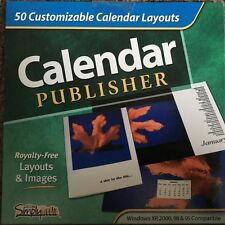 Calendar Publisher Cdrom Computer Software Personalize Custom Create Design New