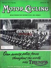 Jan 20 1955 Triumph Motor Cycle ADVERT Swedish Police - Magazine Cover Print