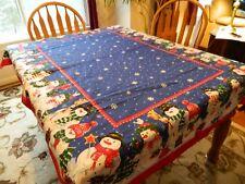 Bardwill Seasons 'Winter Fun' Snowmen 68 X 52 Rectangle Tablecloth