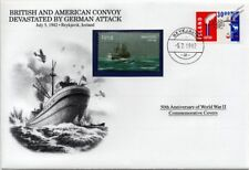 WWII 1942 ATLANTIC CONVOY Devastated by Germans Stamp Cover Iceland/Danbury Mint