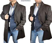 cappotto cappotti lana da uomo giacca elegante trench invernale lungo 46 52 54