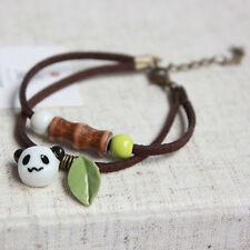 Gift Jewelry Pendant Rope Bamboo Panda Bracelet Ceramic Porcelain Hand Chain