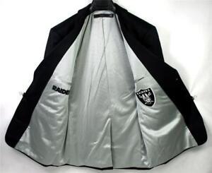 Oakland Raiders Team Blazer Licensed Logo Men Sport Coat Short Regular Tall NFL