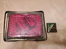 Tobacco Tins x 2 Tiger P Lorillard Co Large Picnic Basket Tin & Pocket Half & H