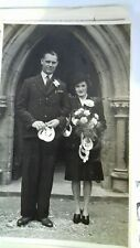 Vintage black and white Wedding photo. Peggy & Jack. Nottingham.
