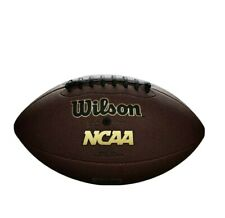 Wilson Ncaa Icon Football Silver Series Youth Junior Size Age 9-12
