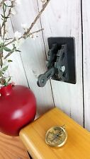 Steampunk Industrial Light Switch Cover Steel w/ Gear Levers & Center Cutouts.