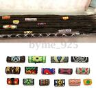 15x 10-30mm Colorful Dreadlock Bead Fabric Mix Hair Braiding Cuff Clip Hole 8mm