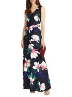 ex Phase Eight Magnolia Print Maxi Summer Holiday Dress