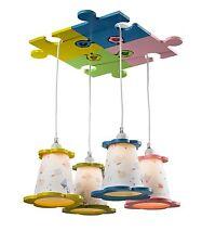 Childrens kids girls/ boys Chandelier Light Fixture Blue - Green - Yellow - Pink