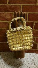 Bag by Debbie - A John Wind Imports Japan Gold Beaded Evening Handbag 1442