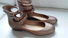 Melissa Vivienne Westwood bronze gladiator flats shoes US8-9 EU39-40
