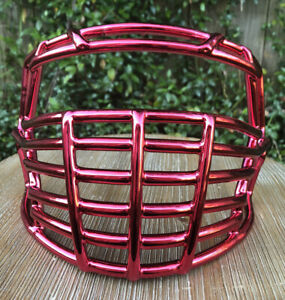 New Riddell Speed Red Chrome Big Grill Football Helmet  Facemask