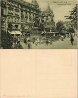 Frankfurt am Main Goetheplatz Denkmal, belebtes Viertel mit Lokalen 1908