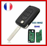 Clé Vierge CE0536 ID46 Pour Peugeot 307 308 308 SW 407 408 607 807 PARTNER