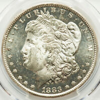 1883-CC Morgan Silver Dollar PCGS MS64 DMPL Quicksilver mirrors & Frosty Devices