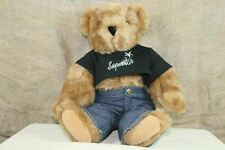 """Authentic Vermont Teddy Bear Brown Movable """"Superstar"""" Teddy Bear Outfit Plush"""