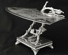 VICTORIAN EAST LAKE DERBY SILVER CO QUADRUPLE PLATE CARD RECEIVER TRAY DISH