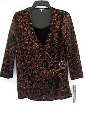 Elementz Size S Small Black Bronze New Womens Blouse