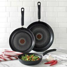 T-Fal 3 Piece Fry Pan Set Titanium Non-stick Cookware Kitchen Oven Safe NEW
