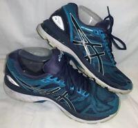 Asics Gel-Nimbus 19 Sz 9 Insignia Blue Glacier Sea Running Shoes T750N-5067 VGUC