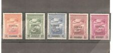 PORTUGAL TIMOR 1946 - AIR MAIL AF10/14 ICP SURCHARGED  COMPLETE MNH SET