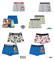 2 Pairs Boys Official Licensed Character Underwear Boxers | Boxer Shorts | Pants