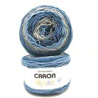 2 New Skeins Caron Big Cakes Acrylic Knitting Yarn 10.5 oz ea/603 yds ea