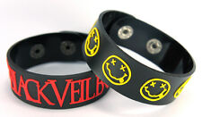 BLACK VEIL BRIDES NIRVANA NEW! 2pcs(2x) Rubber Bracelet Wristband ww71