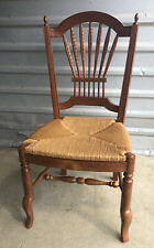 New ListingEthan Allen Wheatback Rush seat Dining Side chair, Maison Country French Legacy