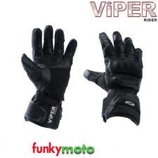 Guanti in pelle e tessuto con protezione leggera per motociclista taglia XL