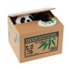 Cute Panda Automated Piggy Bank Money Box Stealing Coin Saving Money Box Gift