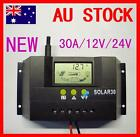 LCD 30A 12V/24V Solar Controller Regulator Charge Battery Protection Certify DX