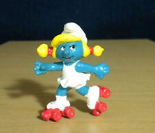 Smurfs Rollerskates Smurfette Smurf Figure Vintage Skating Toy 1980's Peyo 20126