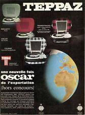 """""""TEPPAZ OSCAR"""" Annonce originale entoilée 1965 25x32cm"""