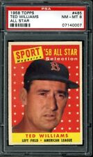 1958 Topps #485 Ted Williams AS PSA 8 NM-MT