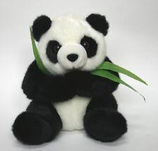 "9"" Cute Stuffed Panda Bear With Bamboo - New"