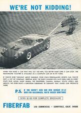 1967 Fiberfab Valkyrie Parachute  - Original Car Advertisement Print Ad J154
