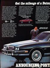1981 Pontiac Grand Prix Original 2-page Advertisement Print Art Car Ad J823