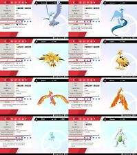 Ultra Shiny** 6IV EV Trained 1st Gen Legendary/Mythical Pokemon Sword/Shield