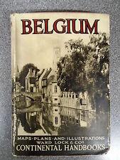HANDBOOK TO BELGIUM - WARD LOCK & CO - H/B D/W - UK POST £3.25
