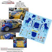 DECALS 1/43 REF 1699 PEUGEOT 207 S2000 OBERTI RALLYE MONTE CARLO 2016 RALLY WRC