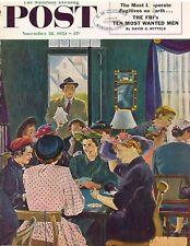 The Saturday Evening Post November 28 1953 George Hughes Vintage Americana