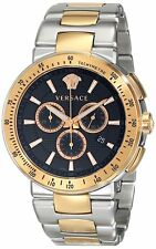Versace Men's VFG100014 Mystique Sport Chronograph Two-Tone Steel Date Watch