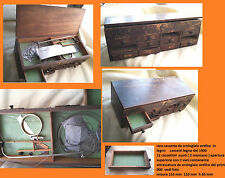 g  Very Rare ANTIQUE 1900   little box vintage wood for tool, part watchmaker