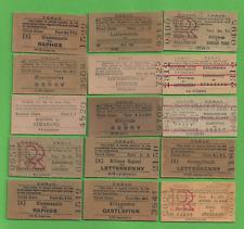 Superb Lot Of 15 Irish Unused Uncanceled CDRJC Railway Train Tickets Ireland