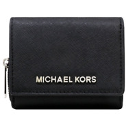 Michael Kors Jet Set Travel Small Multifunctional Zip Around Case Wallet Black