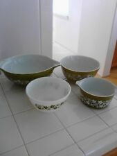 Vintage Pyrex Green #444,403,473B & 402 Bowls