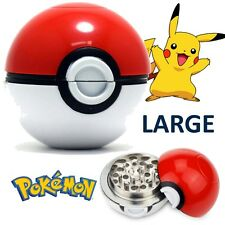 60 mm Pokemon Aluminium Pokeball tabac Herbes Sèches 2 partie moulin Dents requin Ball
