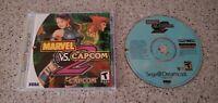 Marvel vs. Capcom 2 II ii Sega Dreamcast Game CD Complete CIB Case Manual Lot !!